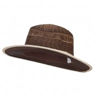 Women's Woven Paper Fedora - Brown