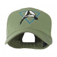 Diving Woman Logo Embroidered Cap - Olive