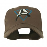 Diving Woman Logo Embroidered Cap - Brown