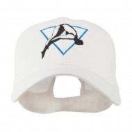 Diving Woman Logo Embroidered Cap - White