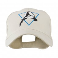 Diving Woman Logo Embroidered Cap - Stone
