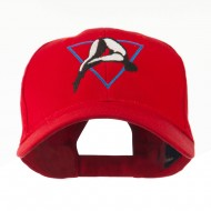 Diving Woman Logo Embroidered Cap - Red