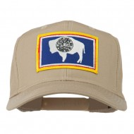 State of Wyoming Embroidered Patch Cap - Khaki