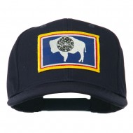 State of Wyoming Embroidered Patch Cap - Navy