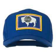 State of Wyoming Embroidered Patch Cap - Royal