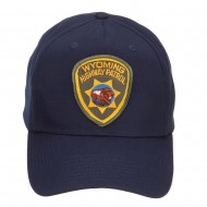 Wyoming Highway Patrol Patched Cap - Navy