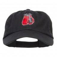 Boxing Gloves Embroidered Low Profile Cap - Black