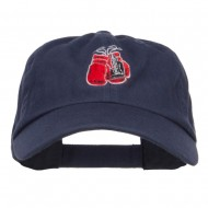 Boxing Gloves Embroidered Low Profile Cap - Navy