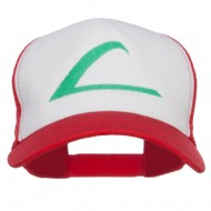 Ash Ketchum League Expo Embroidered Mesh Cap - White Red