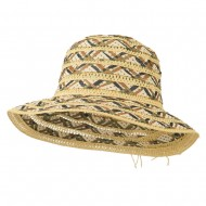 Women's Woven Braid Crushable Hat - Brown