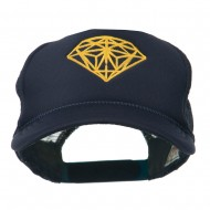 Youth Two Inches Diamond Embroidered Foam Mesh Cap - Navy