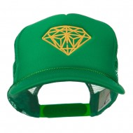 Youth Two Inches Diamond Embroidered Foam Mesh Cap - Kelly