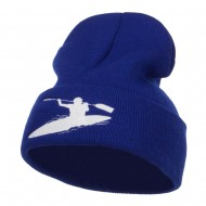 Kayak Sports Embroidered Long Beanie - Royal