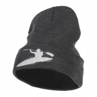 Kayak Sports Embroidered Long Beanie - Dk Grey