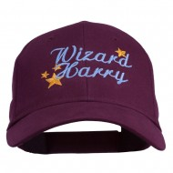 Halloween Wizard Harry Embroidered Youth Brushed Cap - Maroon