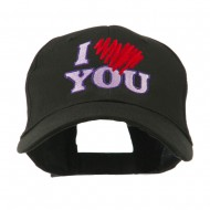 I Love You Logo Embroidered Cap - Black
