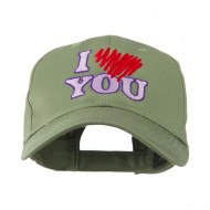 I Love You Logo Embroidered Cap - Olive