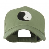 Traditional Chinese Symbol Yin and Yang Embroidered Cap - Olive