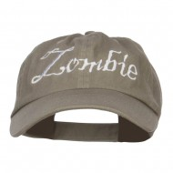 Halloween Zombie Embroidered Low Cap - Olive