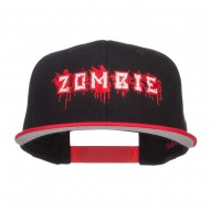 Bloody Zombie Embroidered Two Tone Snapback - Red Black