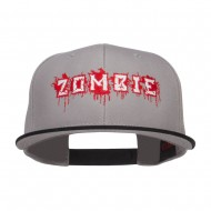 Bloody Zombie Embroidered Two Tone Snapback - Black Grey