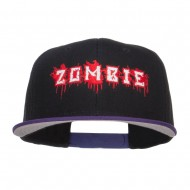 Bloody Zombie Embroidered Two Tone Snapback - Purple Black