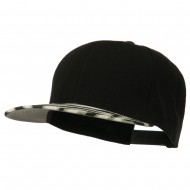 Ziger Two Tone Snapback Cap - Black
