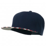 Ziger Two Tone Snapback Cap - Navy Red