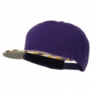 Ziger Two Tone Snapback Cap - Purple