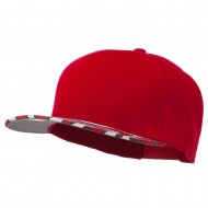 Ziger Two Tone Snapback Cap - Red