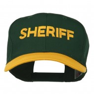 Sheriff Embroidered Cotton Twill Cap - Gold Green