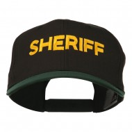 Sheriff Embroidered Cotton Twill Cap - Green Black