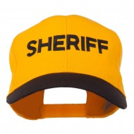 Sheriff Embroidered Cotton Twill Cap - Black Gold