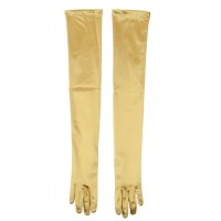 Glove - Gold Satin 16BL 23 Inches Glove