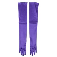 Glove - Purple Satin 16BL 23 Inches Glove