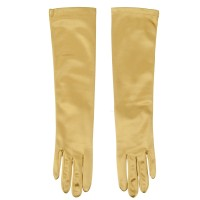 Glove - Gold Satin 8BL 14 Inches Glove