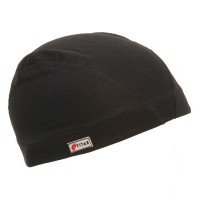 Wrap - Black Grey Cotton Spandex Dome Cap