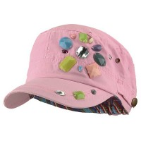 Cadet - Pink Scattered Colored Gem Cap
