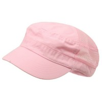 Cadet - Pink Enzyme Mesh Army Cap