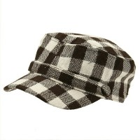 Cadet - Brown Wool Blend Checker ML Cadet Cap