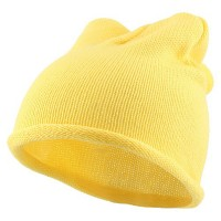 Beanie - Yellow Children Knitting Hat