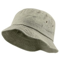 Bucket - Beige Big Size Washed Hat