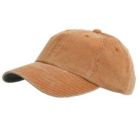 Ball Cap - Orange Orange Corduroy Cotton Cap