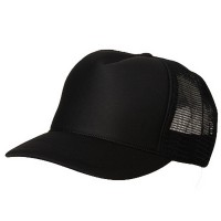 Ball Cap - Black Foam Mesh Trucker Cap