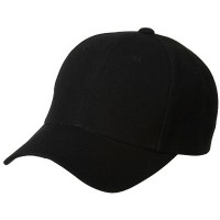 Ball Cap - Black Pro Style Fitted Cap