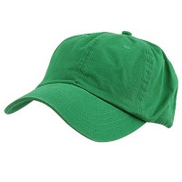 Ball Cap - Kelly Green Low Profile Dyed Washed Caps