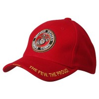 Embroidered Cap - Marine Red Military Cap