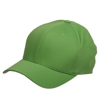 Ball Cap - Fresh Green Wooly Combed Twill Flexfit Cap