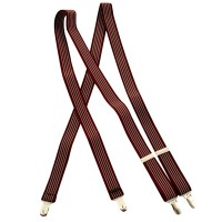 Belt , Buckle - Burgundy Stripe Striped Dress Suspender