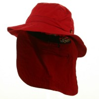 Outdoor - Red UV 45+ Extreme Vacationer Flap Hats